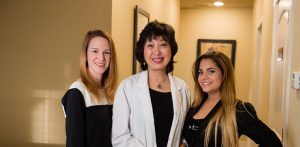 Dr. Bai and staff in Atlanta Acupuncture Clinic, Absolute Holistic Medicine